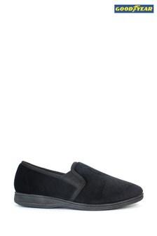 נעלי בית סליפ און בצבע שחור דגםTamar שלGoodyear