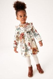 فستان جيرسيه كشكش (3 شهور -7 سنوات)