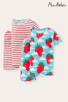 Boden Blue Snug Short Pyjamas Twin Pack