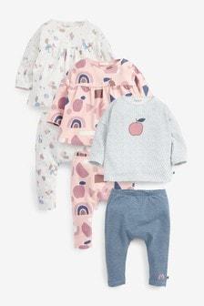 北歐上衣和內搭褲6件套裝 (0個月至2歲)