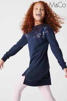 فستان رياضي أزرق بترتر منM&Co