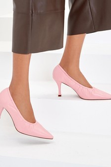 Signature Leather Ruched Courts