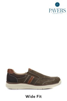 Pavers Men's Wide Fit Slip-On Trainers