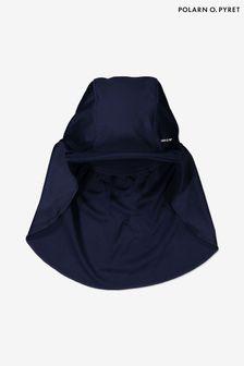 Polarn O. Pyret ブルー サンセーフ ネックガード付き帽子