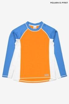 Lycra sans manche anti UV Polarn O. Pyret motif colour block orange