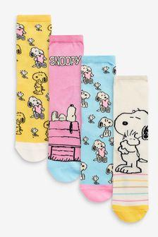 حزمة من 4 جوارب كاحل Snoopy