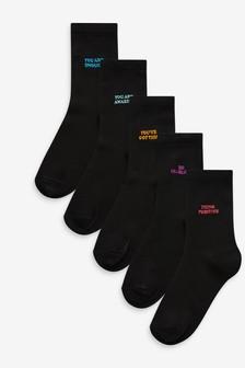 5 пар носков с вышивкой