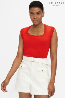 Ted Baker Staciey Scallop Detail Knitted Top