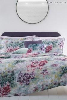 Clarke & Clarke Purple Fiore Duvet Cover and Pillowcase Set