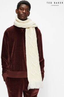 Ted Baker Cream Homertn Cable Knit Scarf