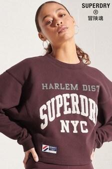 Superdry Varsity Arch Sweatshirt mit Fledermausärmeln