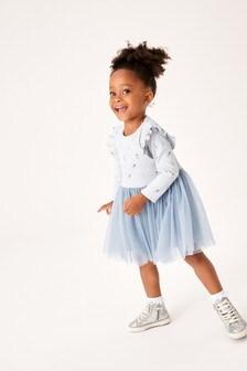 Long Sleeve Rib Tutu Dress (3mths-7yrs)
