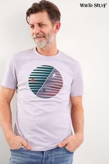 White Stuff Purple Eclipse Organic Cotton Graphic T-Shirt