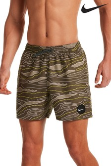 Nike All Over Camo Lap 5 Inch Volley Swim Shorts