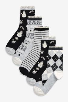 5 пар рождественских носков