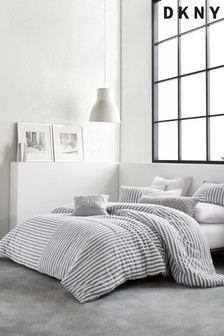 DKNY Grey Clipped Square Duvet Cover