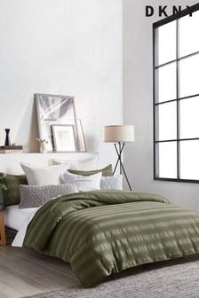 DKNY Green Avenue Stripe Duvet Cover