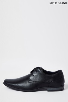 River Island Black Formal Point Derby Shoes