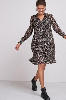 Mesh Long Sleeve Dress (M17211) | $47
