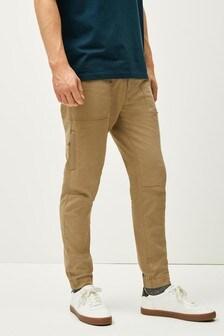 Стретчевые брюки в стиле милитари