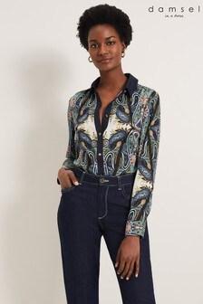 חולצה שלDamsel In A Dress דגם Sedona בהדפס פייזלי בשילוב צבעים