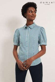 חולצת משבצות של Damsel In A Dress דגם Amylia בירוק