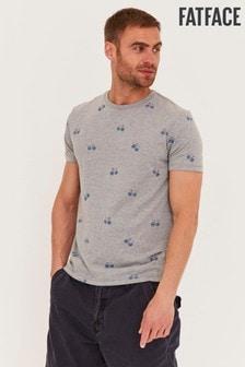 FatFace Grey Bike T-Shirt