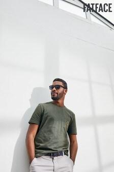 "Зеленая футболка с принтом ""Shore Thing"" FatFace"