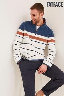 Бежевый свитер в полоску FatFace Airlie