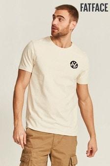 Бежевая футболка с принтом FatFace VW Exhibition