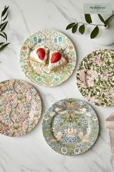 Set of 4 Morris & Co. Pink Side Plates