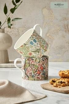 Set of 2 Morris & Co. Blackthorne & Golden Lily Mugs