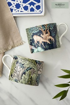 Set of 2 Morris & Co. Brook & Acanthus Mugs