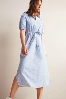 Stripe Dress With Tie Belt