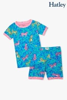 Hatley Jungle Cats Kurzes Pyjama-Set aus Bio-Baumwolle