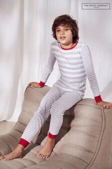 Серая пижама в полоску The White Company
