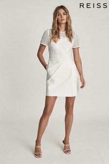 Платье мини с кружевной отделкой REISS Freyda