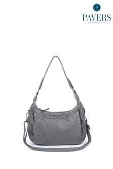 Серая женская сумка с длинным ремешком Pavers