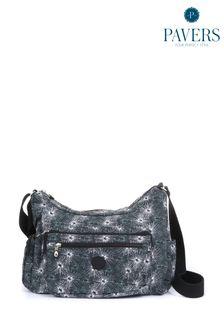Черная женская сумка с рисунком Pavers