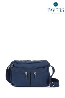 Синяя женская сумка с длинным ремешком Pavers