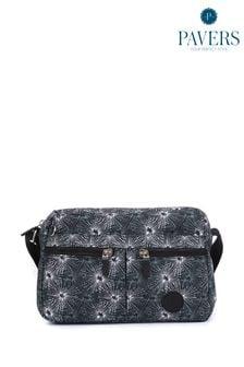 Черная женская сумка с длинным ремешком Pavers