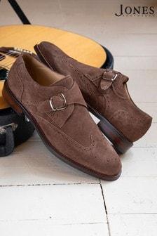 Jones Bootmaker Brown Montague Single Monk Strap Men's Shoes