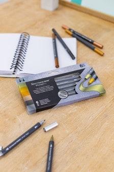 Set of 6 Spectrum Noir Dual Tip Water-Based Precious Metals Metallic Marker Pens