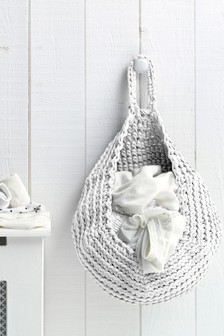 Hooked Make Your Own Off White Storage Bag Crochet Kit
