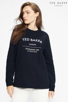 Ted Baker Maaxii Slogan Boyfriend Fit Sweat Top
