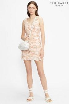 Mini robe Ted Baker Rrosiee froncée sur le devant