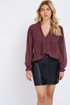 Blusa con aplicación de encaje