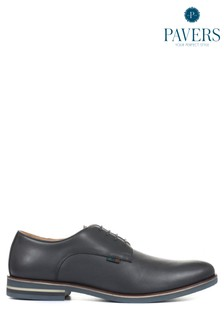 Pavers Mens Leather Derby Shoes
