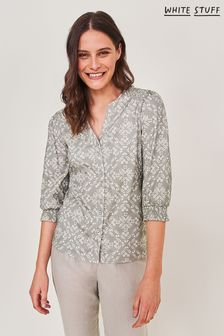 חולצת ג'רזי של White Stuff דגם Mora בצבע בבז'