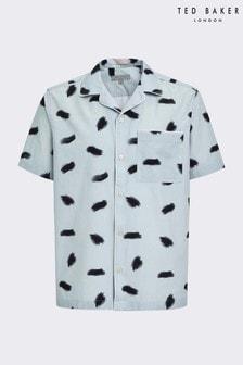 Ted Baker Sourdo Short Sleeve Brush Stroke Print Shirt